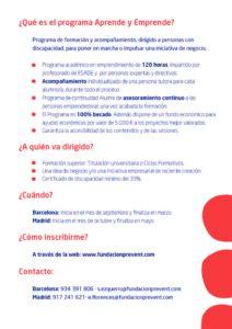 información del programa requisitos y contactos