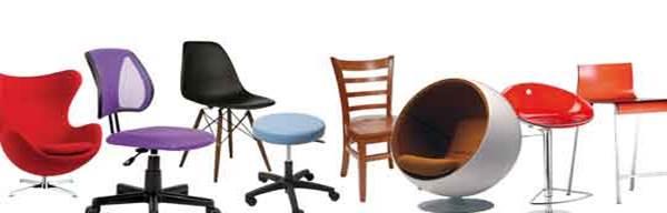 diversidad de sillas de distinto modelo, color, forma y tamaño