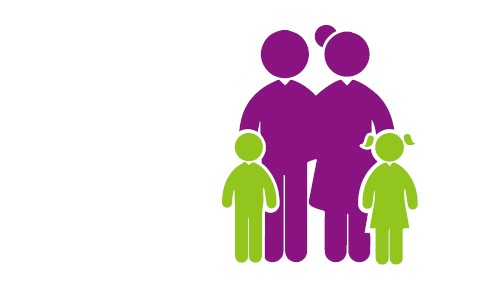 imagen del logo de FEDER de una familia