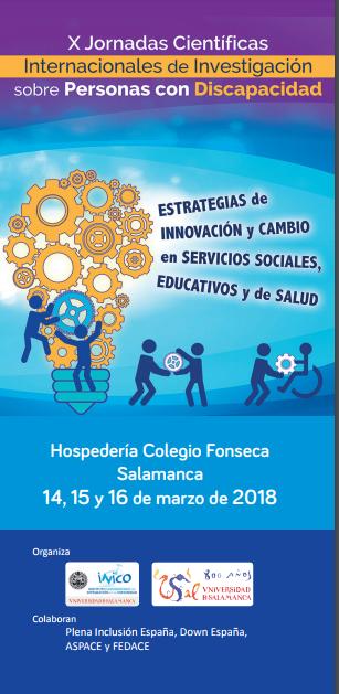 cartel de las X Jornadas Científicas Internacionales sobre Investigación en Personas con Discapacidad