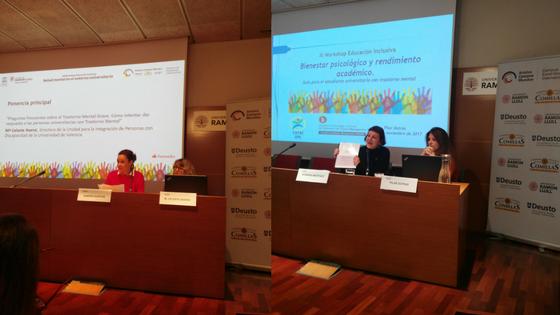 Fotos de las ponentes y acompañantes: Sandra, Celeste, Xiomara y Pilar