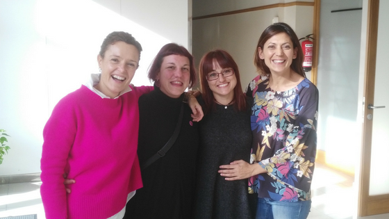 Técnicos de FEI ACM: Sandra, Xiomara, Maite y Rocío