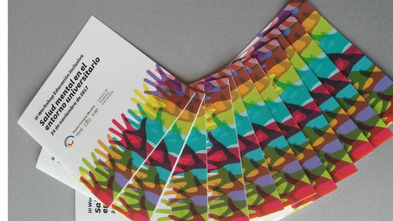 folletos del II Workshop de Educación Inclusiva: salud menta en el entorno universitario