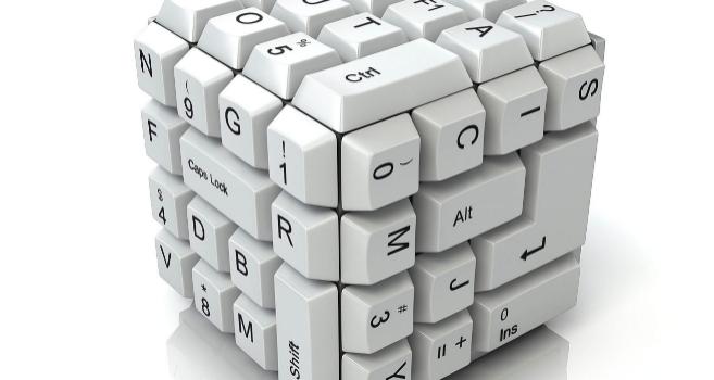 imagen de un teclado en forma de cuadrado metafora de tecnologia accesible