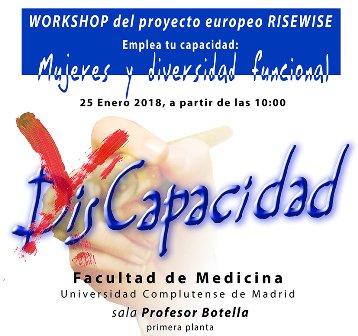 cartel del workshop Mujeres y diversidad funciona deñ proyecto RISEWISE