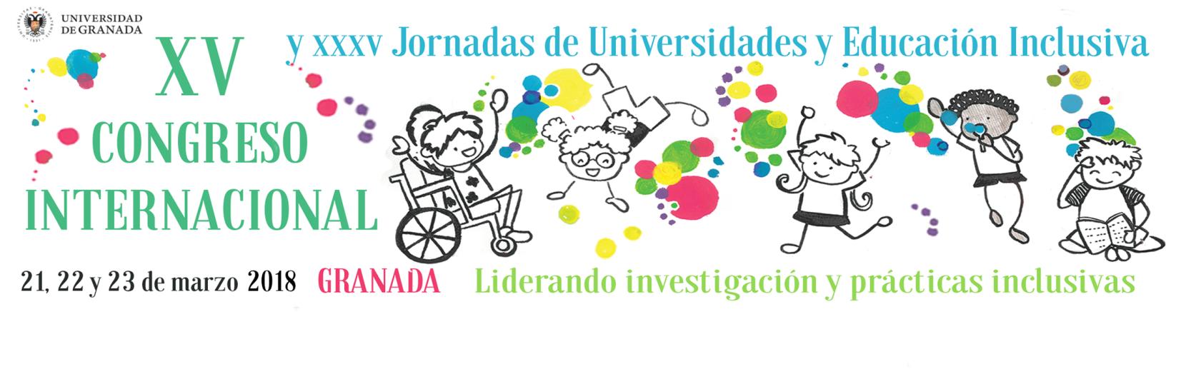 cartel de l XV cONGRESO INTERNACIONAL Y XXXVJORNADAS DE UNIVERSIDADES Y EDUCACION INCLUSIVA
