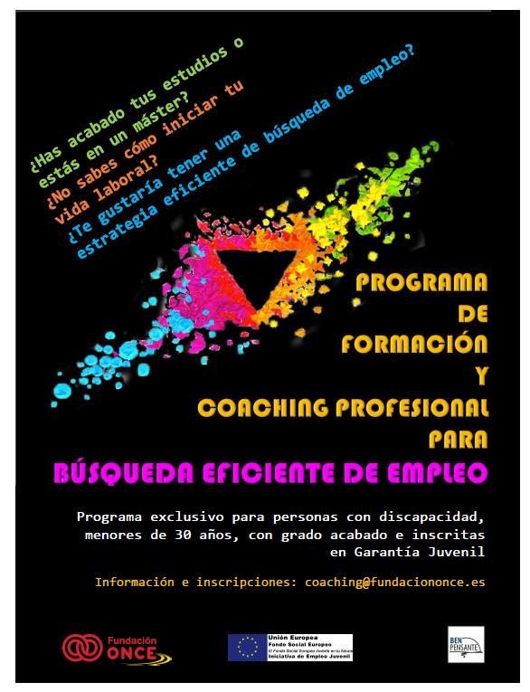 Cartel programa de formación de coaching profesional