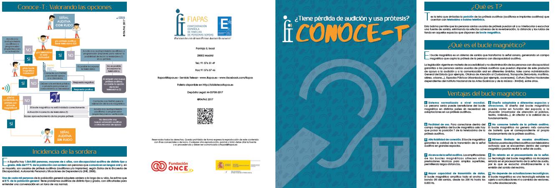 Díptico informativo Conoce-T