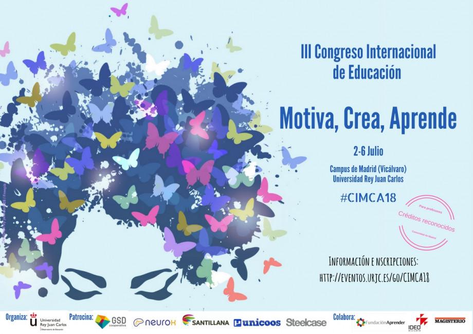 Cartel III Congreso de Educación MOTIVA , CREA Y APRENDE