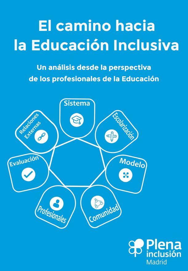 """portada del documento """"El camino hacia la educación inclusiva"""" de Plena Inclusión"""