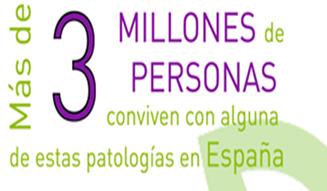imagen para entrada de Professional Growing de un texto que dice: mas de 3 millones de personas conviven con alguna des estas patologías en España