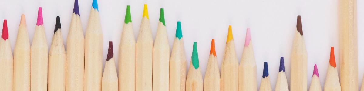 lápices de colores metáfora de la diversidad